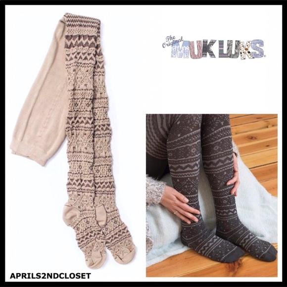 1c163cf34970e Muk Luks Accessories   Cozy Nordic Sweater Tights   Poshmark